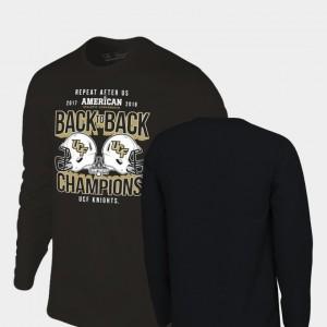 Locker Room Long Sleeve Original Retro Brand Black College T-Shirt Men University of Central Florida 2018 AAC Football Champions