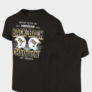 Black College T-Shirt Locker Room Original Retro Brand University of Central Florida 2018 AAC Football Champions Mens