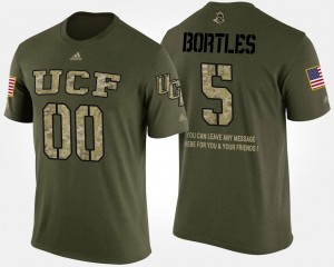 UCF Knights Military #5 Blake Bortles College T-Shirt For Men's Short Sleeve With Message Camo