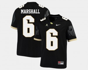 American Athletic Conference For Men Black #6 Brandon Marshall College Jersey Football UCF Knights