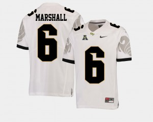 UCF Football American Athletic Conference Brandon Marshall College Jersey For Men #6 White