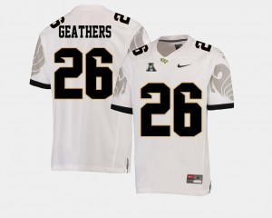 Football #26 Knights Clayton Geathers College Jersey Mens American Athletic Conference White