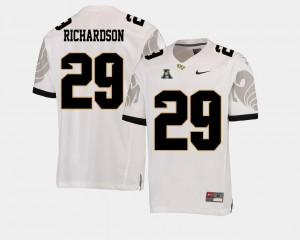 #29 Knights American Athletic Conference White Football Men Cordarrian Richardson College Jersey