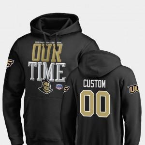 College Custom Hoodie UCF Knights Counter 2019 Fiesta Bowl Bound For Men's Black #00