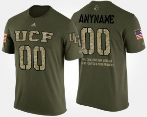 Military Men's Short Sleeve With Message UCF Camo College Custom T-Shirt #00