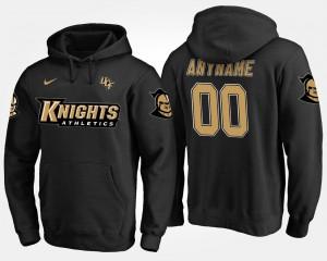 For Men's #00 College Custom Hoodie Black UCF Knights