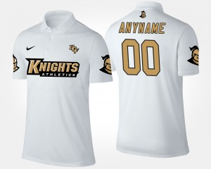 White College Customized Polo Mens Knights #00