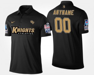 Bowl Game For Men's American Athletic Conference Peach Bowl College Custom Polo #00 Knights Navy