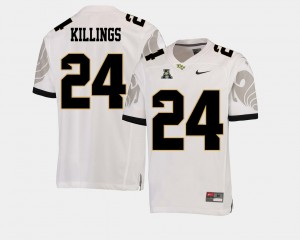 D.J. Killings College Jersey Football UCF White #24 American Athletic Conference For Men's
