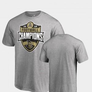College T-Shirt Big & Tall Heather Gray 2018 AAC Football Champions UCF Knights Men's