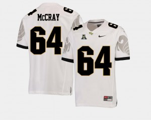 American Athletic Conference Football For Men's White UCF Justin McCray College Jersey #64