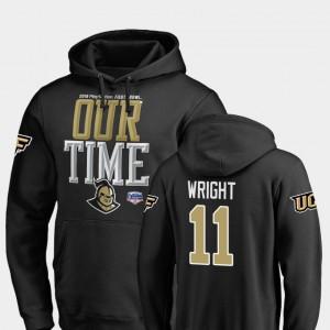 #11 Matthew Wright College Hoodie Men 2019 Fiesta Bowl Bound Black Counter UCF Knights