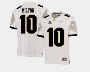 #10 Football Mckenzie Milton College Jersey Men American Athletic Conference UCF Knights White