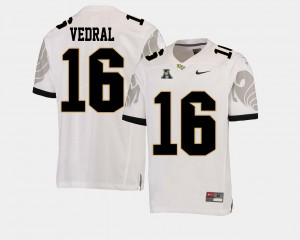 #16 Noah Vedral College Jersey White UCF Knights For Men American Athletic Conference Football