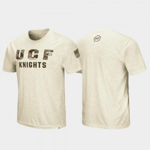 College T-Shirt OHT Military Appreciation Desert Camo Oatmeal Mens UCF Knights