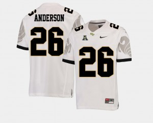 Otis Anderson College Jersey #26 Men's White UCF Knights Football American Athletic Conference