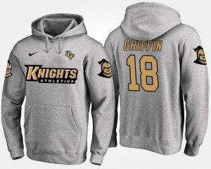 Gray Shaquem Griffin College Hoodie UCF Knights #18 Mens