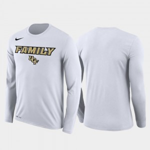 White March Madness Basketball Performance Long Sleeve College T-Shirt UCF For Men's Family on Court