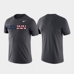Anthracite Performance UConn Huskies Americana Legend College T-Shirt Men