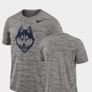 Charcoal For Men's College T-Shirt Connecticut 2018 Player Travel Legend Performance