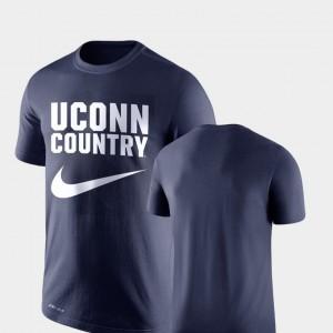 UConn Navy For Men Performance College T-Shirt Legend Franchise