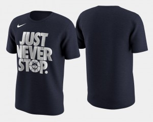 Men Basketball Tournament Just Never Stop Navy Connecticut College T-Shirt March Madness Selection Sunday