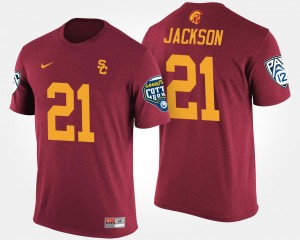 USC Trojans Bowl Game For Men #21 Pac-12 Conference Cotton Bowl Adoree' Jackson College T-Shirt Cardinal