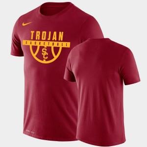 Cardinal USC Trojans For Men Drop Legend Performance Basketball College T-Shirt