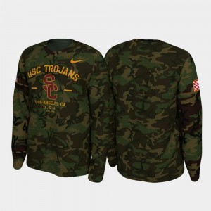 USC Trojans College T-Shirt Legend Long Sleeve For Men's Camo 2019 Veterans Day