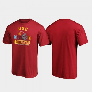 Cardinal College T-Shirt Spike For Men's USC Trojans 2019 Holiday Bowl Bound