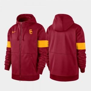 Performance Full-Zip USC 2019 Sideline Therma-FIT Cardinal College Hoodie Men