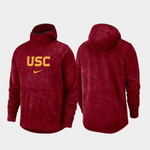 Cardinal College Hoodie For Men's Basketball Team Logo Pullover Spotlight USC Trojans