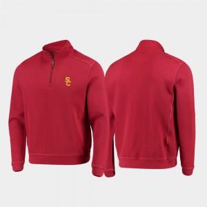 Men's Half-Zip Pullover Tommy Bahama Cardinal College Jacket Trojans Sport Nassau