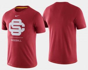 Cardinal For Men's College T-Shirt Baseball USC Trojans Dugout Performance