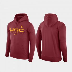 For Men College Hoodie Football Practice USC Cardinal Performance