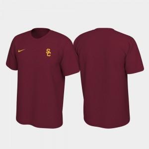 Left Chest Logo Cardinal Men College T-Shirt Trojans Legend