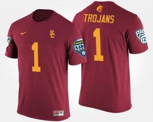 Cardinal Bowl Game For Men College T-Shirt Trojans #1 No.1 Pac-12 Conference Cotton Bowl