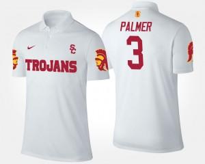 For Men's Carson Palmer College Polo #3 USC Trojans White