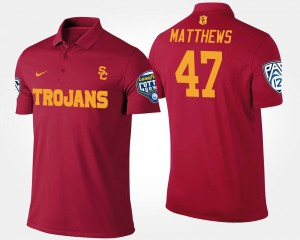 For Men Trojans #47 Bowl Game Cardinal Pac-12 Conference Cotton Bowl Clay Matthews College Polo