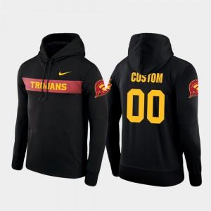 #00 College Custom Hoodie Black Sideline Seismic Football Performance USC Men's