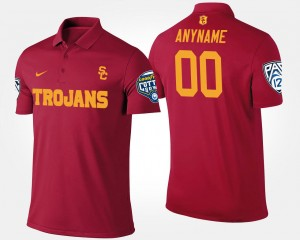 #00 Trojans Pac-12 Conference Cotton Bowl Cardinal Bowl Game For Men's College Customized Polo