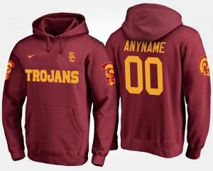Trojans Men Cardinal College Customized Hoodie #00