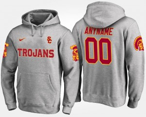For Men #00 USC Gray College Customized Hoodies