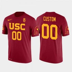 USC Trojans For Men Cotton Football Future Stars Red #00 College Custom T-Shirts