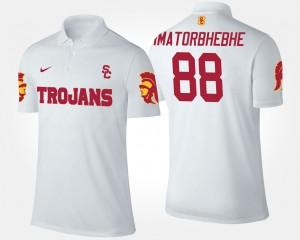 #88 USC Trojans Men Daniel Imatorbhebhe College Polo White