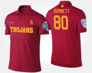 Pac-12 Conference Cotton Bowl Cardinal USC Trojan Bowl Game #80 Deontay Burnett College Polo Men's