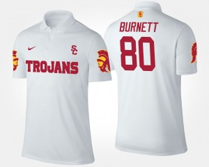 Trojans For Men's Deontay Burnett College Polo #80 White