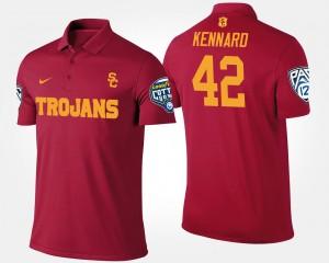 Men's Bowl Game USC Pac-12 Conference Cotton Bowl #42 Devon Kennard College Polo Cardinal