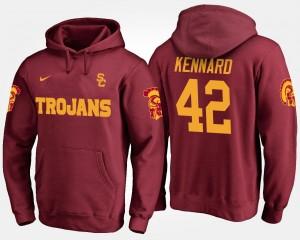 Cardinal USC Trojans Men's Devon Kennard College Hoodie #42