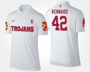 White For Men USC #42 Devon Kennard College Polo